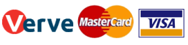 MasterCard, Verve, Visa are accepted